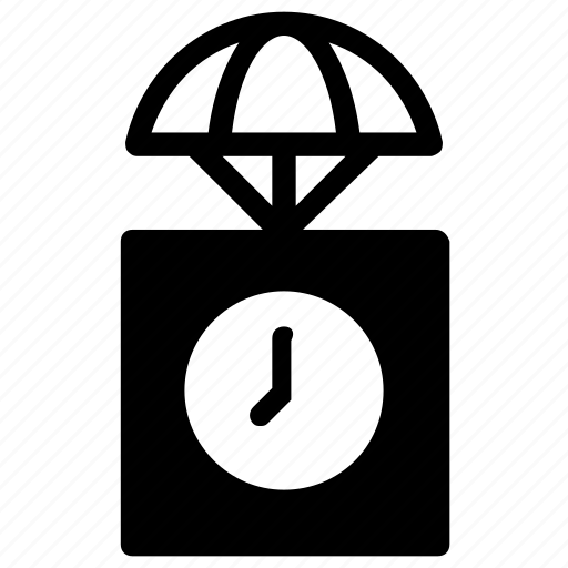 Airdrop, box, clock icon - Download on Iconfinder