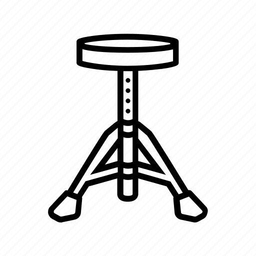 chair, drum, drummer, drums, stool, throne icon