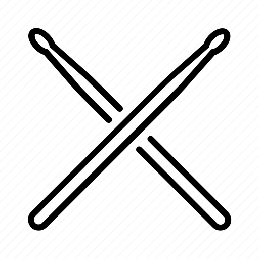cross, drum, drummer, drums, kick, stick, wood icon