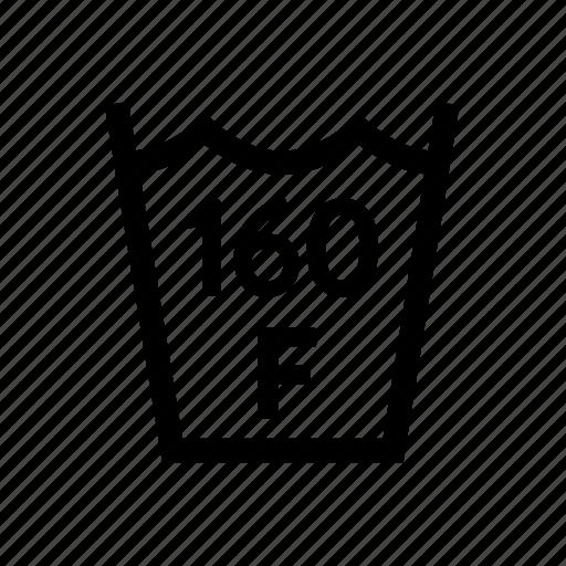 160f, fahrenheit, laundry, max, temp, temperature, washing icon