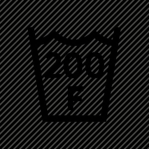 200f, fahrenheit, laundry, max, temp, temperature, washing icon