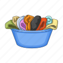 bowl, cleaning, clothes, laundry, things, underwear, washing icon