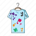 clothes, clothing, dirt, hanger, laundry, stain icon