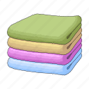 laundry, linen, pile, stack, things, towel, towels icon