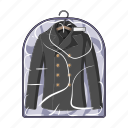 cleaning, clothes, clothing, cover, jacket, washing icon