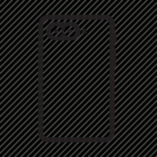 camera, casing, dual, flash, focus, photo, smartphone icon