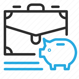 banking, briefcase, credit, pig, savings icon