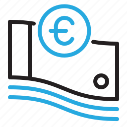 coin, currency, euro, finance, money, paper icon