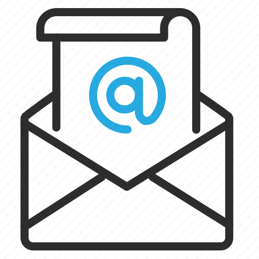 email, mail, message, paper, scroll, text icon