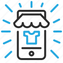 commerce, mobile, online, open, shop icon