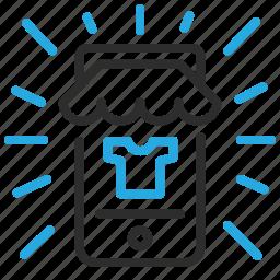commerce, mobile, online, open, shop icon