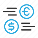 currency, dollar, euro, exchange, money, trade icon