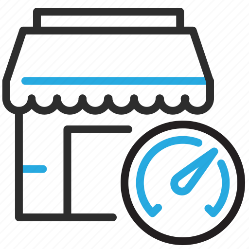 ecommerce, optimize, shop, speed icon