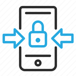 communication, lock, mobile, secure, smartphone icon
