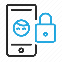communication, lock, mobile, profile, security, smartphone icon