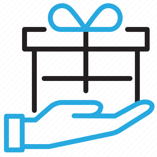 Gift, hand, package, present, box, delivery icon - Download on Iconfinder