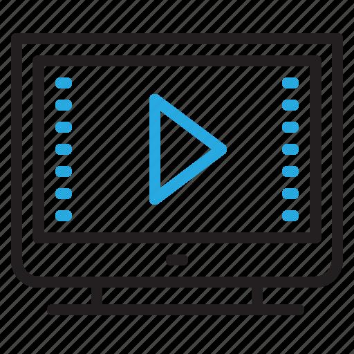 film, movie, multimedia, plat, television, tv, video icon