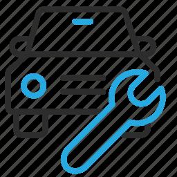 automobile, car, fix, repair, service, transport, vehicle icon
