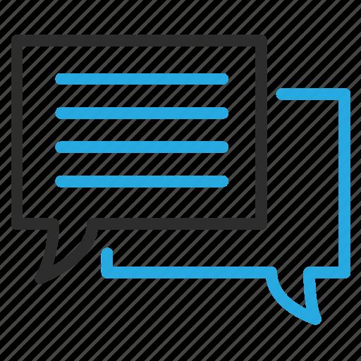 bubble, chat, communicate, conversation, message, text icon