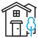 building, city, estate, home, house, property icon