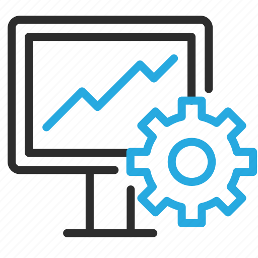 configuration, desktop, monitor, optimization, pc, settings icon