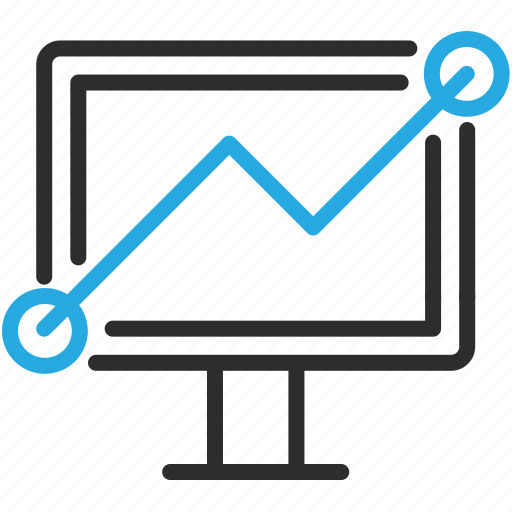 analytics, chart, desktop, graph, monitor, pc, statistics icon
