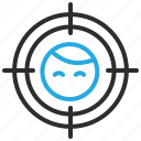 crosshairs, customer, person, profile, target, user icon