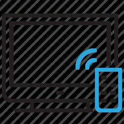 device, remote, screen, smart, television, tv icon