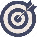 duotone, target, arrow, circle, hit, center