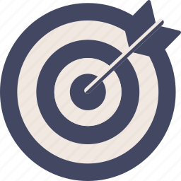 arrow, center, circle, duotone, hit, target icon