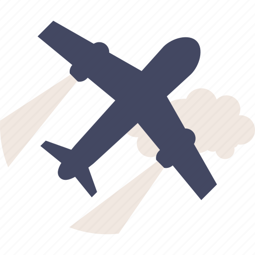 airplane, duotone, fly, plane, transportation, travel icon
