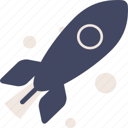 duotone, rocket, shuttle, space, spaceship icon