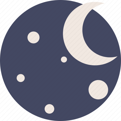 duotone, forecast, moon, night, space, weather icon