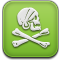 installous, pirat, skull icon