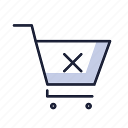 basket, buy, cancel, cart, ecommerse, sell, shop icon
