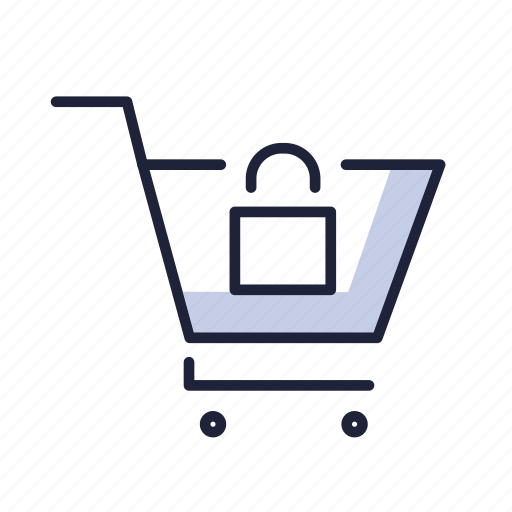 basket, buy, cart, ecommerse, lock, sell, shop icon