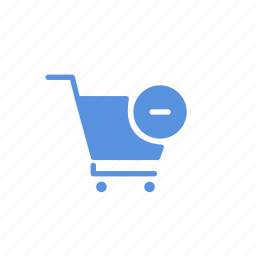 basket, buy, cart, ecommerse, sell, shop, subtract icon