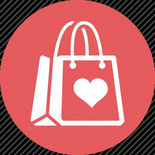 favorite, gift, present bag, shopping bag icon