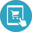 e-commerce, mobile shopping, tablet icon