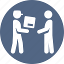 courier, delivery, door to door, shipping icon