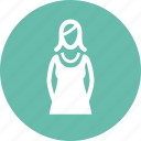 female, woman, women clothing icon
