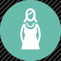 female, woman, women clothing icon