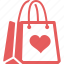favorite, gift, present bag, shopping bag icon