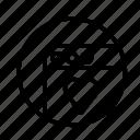love, round, web icon