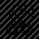 cut, new, scissors icon
