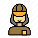 delivery, girl, online, onlineshop, ping, purchase, transport icon