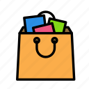 bag, full, online, purchase, shop icon