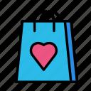 bag, delivery, love, shop icon