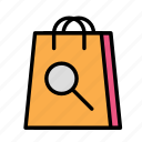 bag, delivery, search, shop icon