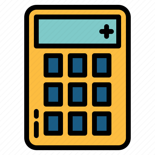 calculator, maths icon